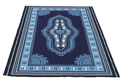 raanpahmuang afrikanischen Dashiki Farbe Baumwolle Stoff geeignet für 1Shirt Design, midnight blue, Standard