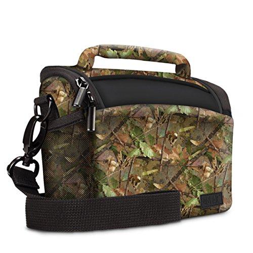 Usa gear borsa a tracolla piccola custodia da viaggio sacchetto - per fotocamera digitale compatta e dslr adatta a canon eos m, sony dsc-h300, nikon coolpix l340, panasonic lumix e altro ancora