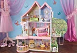 KidKraft Home Indoor Kids Room Decorative Fancy Nancy Dollhouse 12' Tall Play Set 15 Piece Furniture