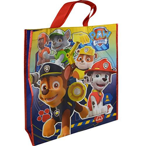Paw Patrol Large Sized Non Woven PP Tote Bag With Foil Trim by Nickelodeon (Trim Large Tote)
