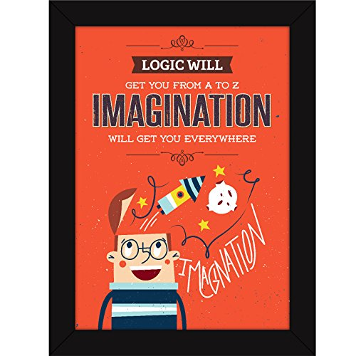 fatmug funny framed posters quotes for room decor and office wall art photo frames logic vs imagination