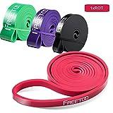 FREETOO Fitnessbänder in 5 Stärken, rot