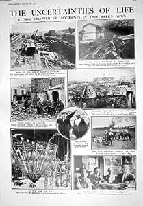 L'Accident 1925 de Train Ferroviaire d'Amiens Inonde le Feu Manizales R 33 de Hong Kong Hollande