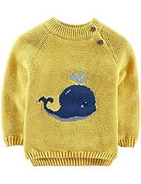 QinMM Dibujos Animados cetáceos suéter Bebé niña niño Jersey de Punto Tops Invierno otoño Ropa de