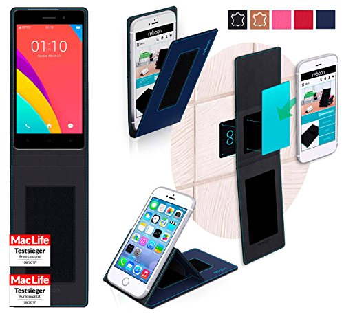 reboon Hülle für Oppo R5s Tasche Cover Case Bumper | Blau | Testsieger