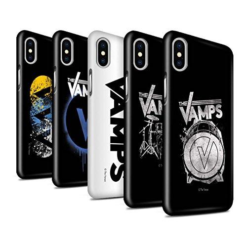 Officiel The Vamps Coque / Clipser Brillant Etui pour Apple iPhone X/10 / Pack 6pcs Design / The Vamps Graffiti Logo Groupe Collection Pack 6pcs