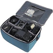 Wasserdicht Stoß Partition Gepolsterte Kamera-Taschen SLR DSLR Insert Schutzhülle Mit Top Griff und verstellbarem Schultergurt für DSLR-Schuss Objektiv oder Blitzlicht (Blue)