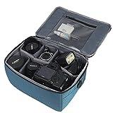 Impermeabile partizione antiurto borse fotocamera reflex imbottito custodia di protezione Inserire DSLR con maniglia superiore e tracolla regolabile per lente DSLR Shot o Flash Light (Blue, L)