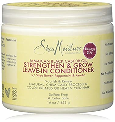 Shea Moisture Jamaican Black Castor Oil Strengthen/Grow and Restore Leave-In Conditioner 16 oz by Shea Moisture
