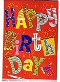 """Happy Birthday – Musikkarte mit beleuchtetem """"Birthday-Logo"""" / Glückwunschkarte mit Sound – Geburtstagskarte Grusskarte"""
