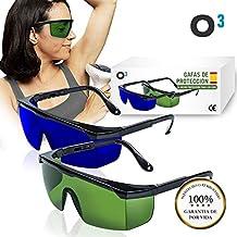 O³ Gafas Laser Depilación - 1 o 2 unidades Gafas de protección para depilación ...