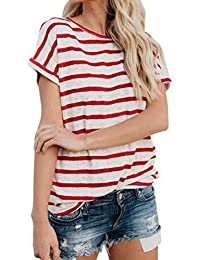 JYC Camiseta Personalizada,2018 Nuevo Blusas Para Mujer,Vaquera Gasa Camisetas Mujer, Mujer