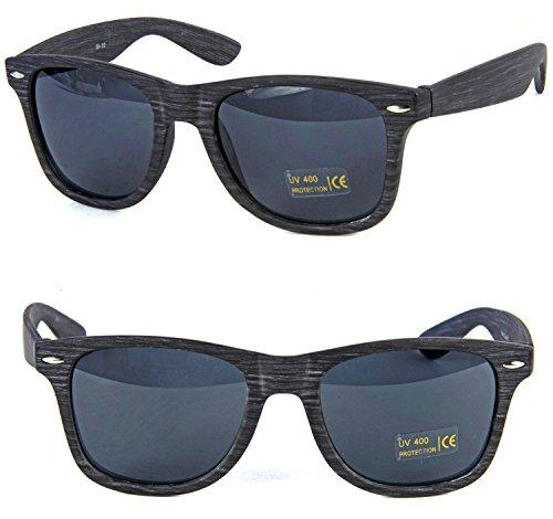 Nerdbrille Grau Deluxe Wayfarer Sonnenbrille Brille