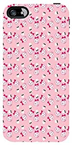Snoogg Cute Aniskulls Case Cover For Apple Iphone 5/5S