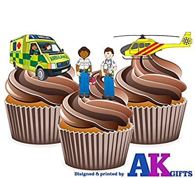 Paramedic Cup Cake Toppers
