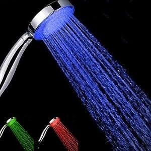 Pommeau de douche à led multicolore change selon la temperature