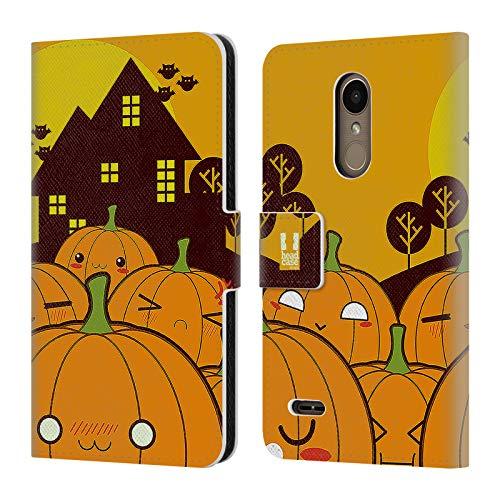 Head Case Designs Kürbis Im Ganzen Halloween Kawaii Brieftasche Handyhülle aus Leder für LG K10 / K11 / K11 Plus (2018) (Halloween Im Phoenix)