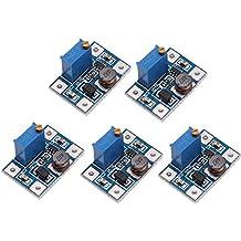 DollaTek 5PCS SX1308 DC Voltage Regulator Step Up Boost Converter Power Supply Module 2-24V to 2-28V 2A