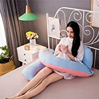 AFQHJ Pregnant women pillow waist side pillow, u-shaped pillow multi-function pillow, used to relieve fatigue and stress, improve sleep quality (160cm × 80cm × 22cm) (Color : A)