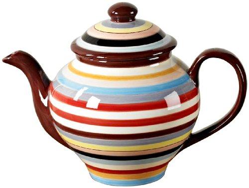 Tabletop Lifestyles 75-Ounce Tea Pot, Sedona Stripe by Tabletop Lifestyles - Sedona Stripe