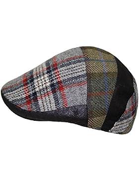 Everyhead Chico Flatcap Gorra Plana Gorro De Pantalla Golfista Sombrero Invierno A Cuadros Lana Shetland Para...