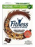 Fitness Dark Chocolate Cereali Fiocchi di Frumento e Fiocchi Ricoperti di Cioccolato Fondente - 4 pezzi da 375 g [1500 g]