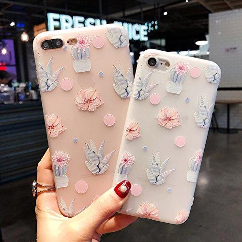 OHDREAM TPU Cartoon Case für iPhone 7, iPhone 8, niedliche schlanke stoßfeste Peeling Cover Phone Case für Frauen Mädchen