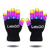 DEDY Fun Spielzeug für 3-10 Jahre alte Jungen, Flashing LED Light Handschuhe für Jungen Kinder Geburtstagsgeschenke Luminous Handschuhe Spielzeug für Jungen Mädchen Schwarz MMJSST03