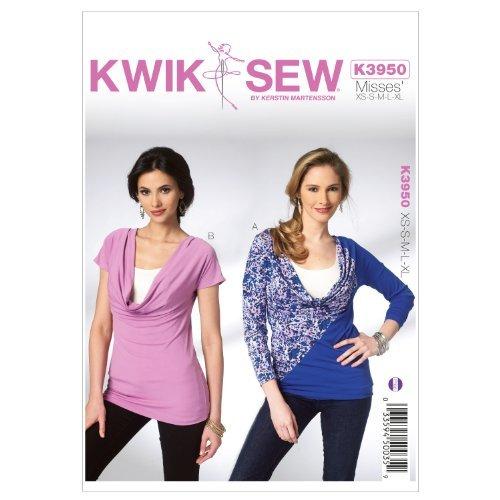 Kwik Sew K3950 Misses Tops Sewing Pattern, Size XS-S-M-L-XL by KWIK-SEW PATTERNS