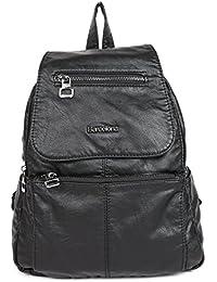21KBARCELONA - Bolso mochila  de Piel Lisa para mujer