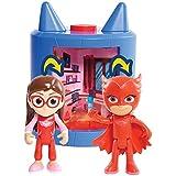 PJ Masks - Playset Transformación Amaya se convierte en Buhíta, color rojo (Bandai 24722)