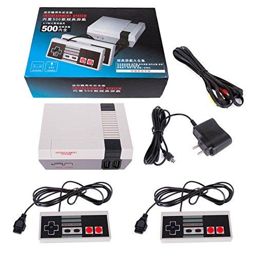 Zantec Spiel Konsolen, Klassische Retro Kinder Spielkonsole Professional System Für NES mit 2 Controller Eingebautes 500 TV Video Spiel