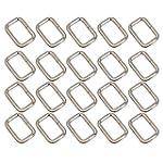 BQLZR Silver Rectangle Metal Dee Ring...