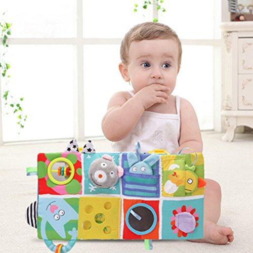 Buch Baby Cloth Buch Stereo Aktivität Buch Frühe Lernspielzeug für Kleinkind Kleinkinder und Kinder - Perfekt für Baby-Dusche-Geschenke (B) ()