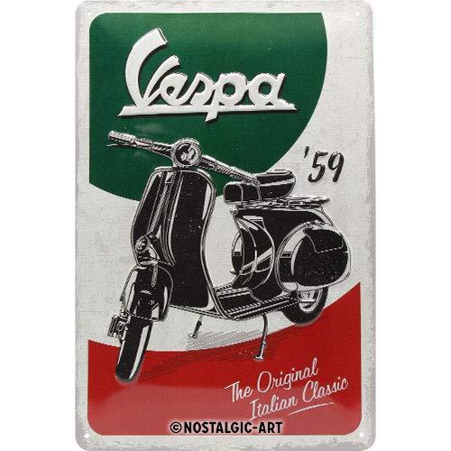Nostalgic-Art Vespa de The Italian Classic Cartel de Chapa, Metal, 20x 30cm