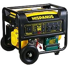 HISPANUS GENERADOR ELECTRICO 7500W, 230V GASOLINA GAMA FUERTES