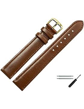 Uhrenarmband 22mm XL Leder braun - Ersatzarmband in Übergröße, extra lang - inkl. Federstege & Werkzeug - Marburger...