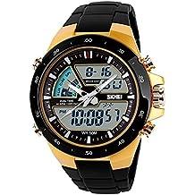 TTLIFE Orologio orologio da polso unisex watch della vigilanza di modo di sport originalità design impermeabile orologio elettronico (Oro) - Borsa Di Opp