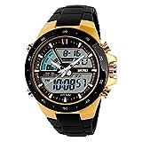 TTLIFE Orologio orologio da polso unisex watch della vigilanza di modo di sport originalità design impermeabile orologio elettronico (Oro)