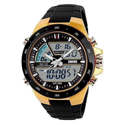 TTLIFE Reloj de pulsera digital unisexo de moda dial grande reloj Deportivo Electrónico Correa Impermeable el corte inglés
