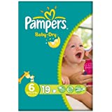 Pampers Baby Dry taille 6 (16 + kg) Carry emballer la grande 6x19 supplémentaires par paquet