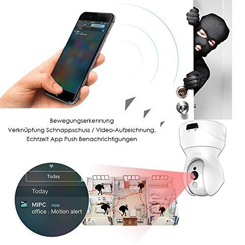 GooDee 720P HD P2P drahtlose IP Kamera 2.4GHz Wlan/Wifi Babyfon Indoor Heim Home Security Überwachungskamera(mit deutscher App 15m Nachtsicht - 3