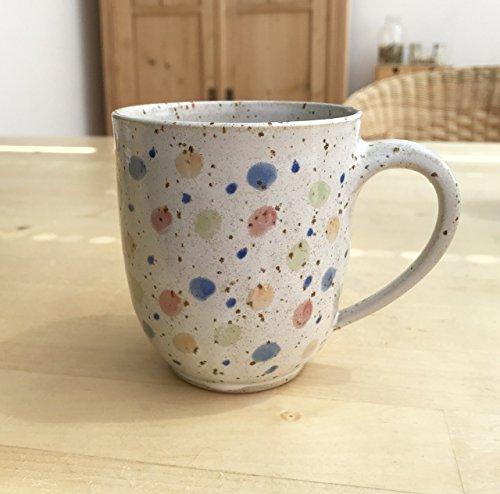 Keramik Becher, Kaffeebecher Konfetti-getöpfert