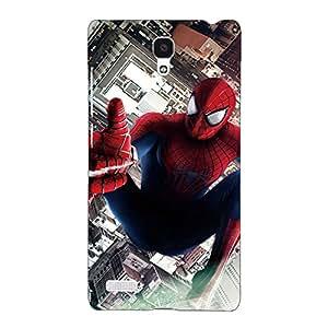 Jugaaduu Superheroes Spiderman Back Cover Case For Redmi Note
