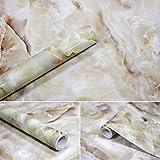 APSOONSELL Granit Marmor Effekt Tapete Selbstklebende Peel Stick Rolling Sticker Wand Aufkleber für Küche Badezimmer Tisch Hintergrund Dekoration, Grau (15.7