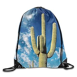 LINGJIE Lightweight Foldable Large Capacity Desert Cactus Art3D Print Drawstring Backpack Rucksack Small Shoulder Bags Gym BagPrint Drawstring Backpack