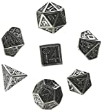 Metal-Black Dwarven Dice Set - 7 dice
