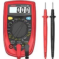 Etekcity msr-r500Digital multímetros, electrónica Amp voltios ohmios multímetro medidor de voltaje con diodo y prueba de continuidad Tester, pantalla LCD de Contraluz (rojo)