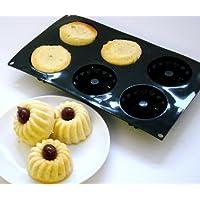 Silicone Cuisine - Stampi a 6 buchi per mini Savarin