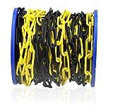 Kunststoff-Absperrkette 6 mm schwarz/gelb 25 m Parkplatzsperre Plastikkette Kette